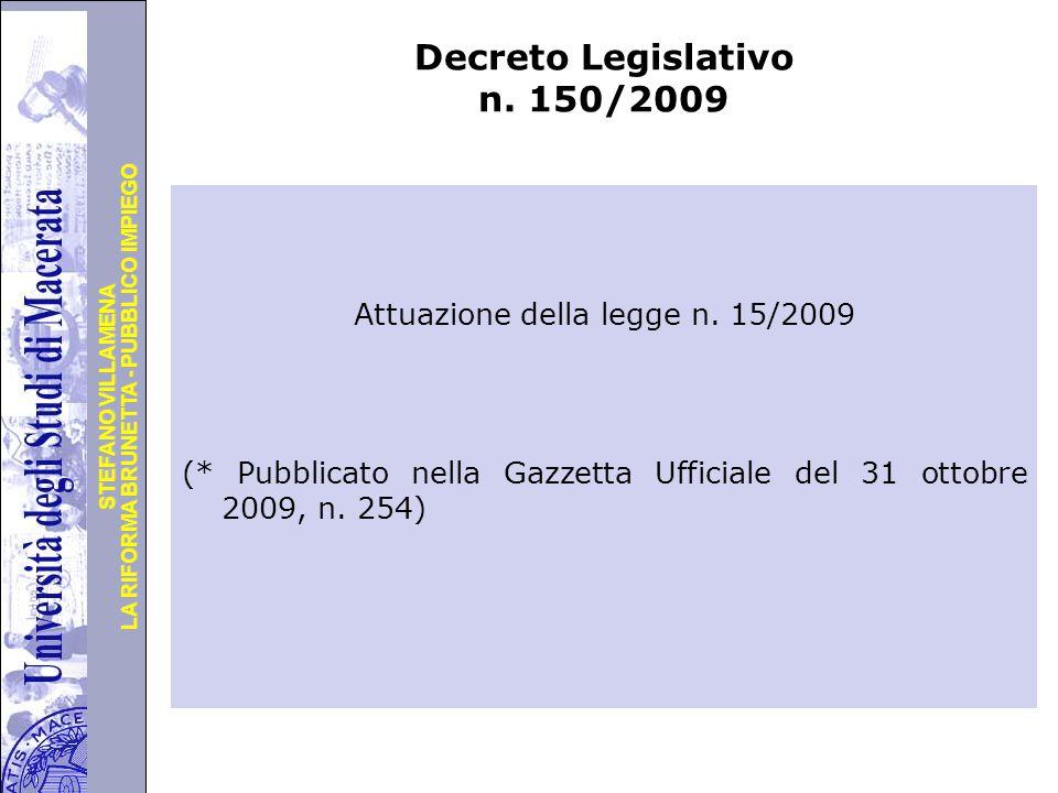 Decreto Legislativo n. 150/2009