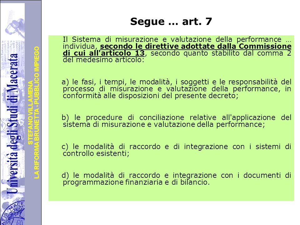 Segue … art. 7