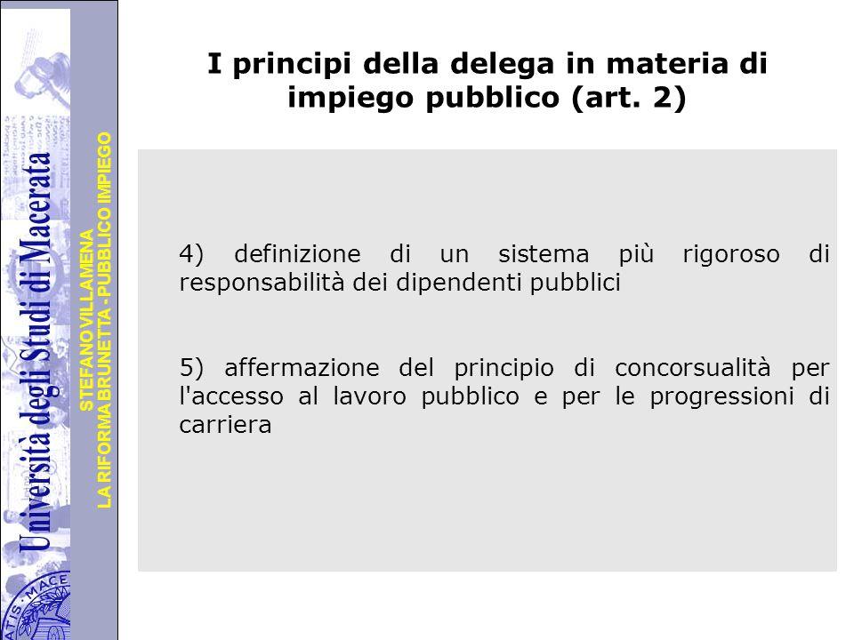 I principi della delega in materia di impiego pubblico (art. 2)