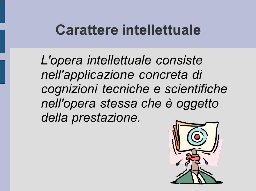 Carattere intellettuale
