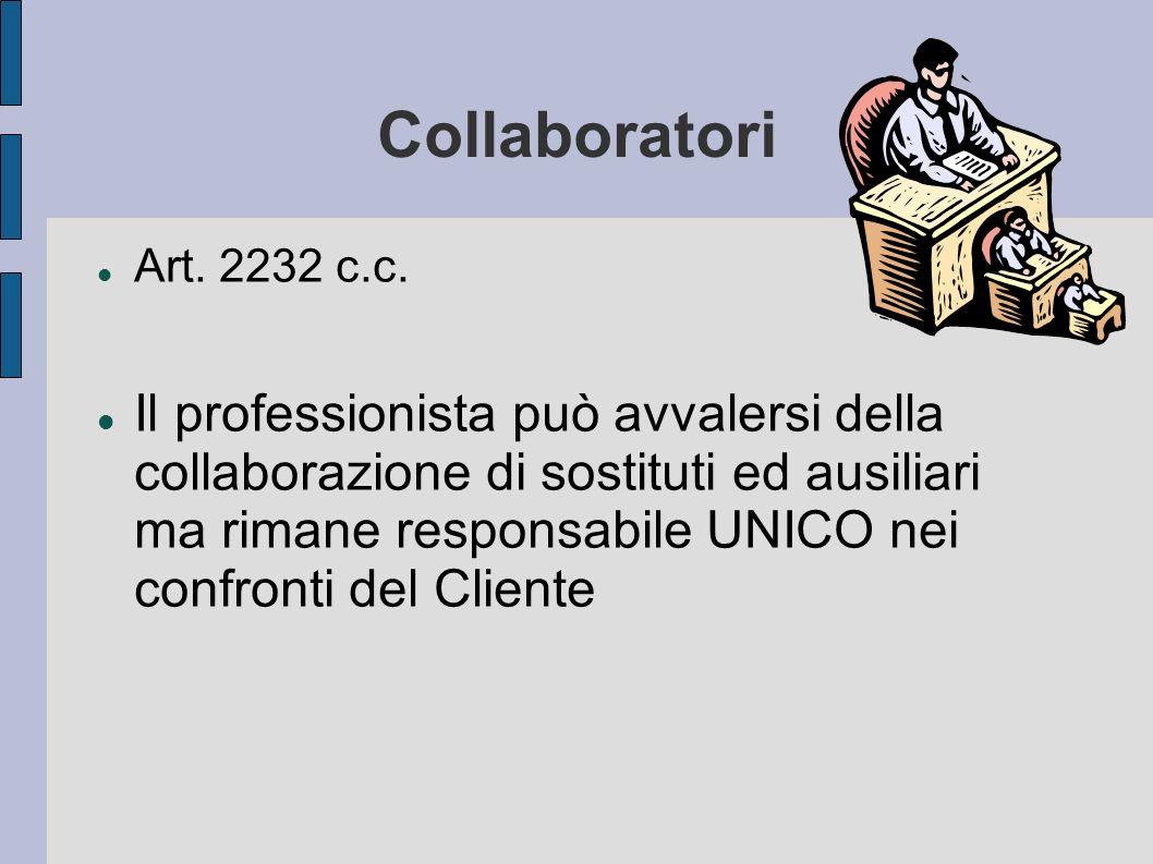CollaboratoriArt. 2232 c.c.