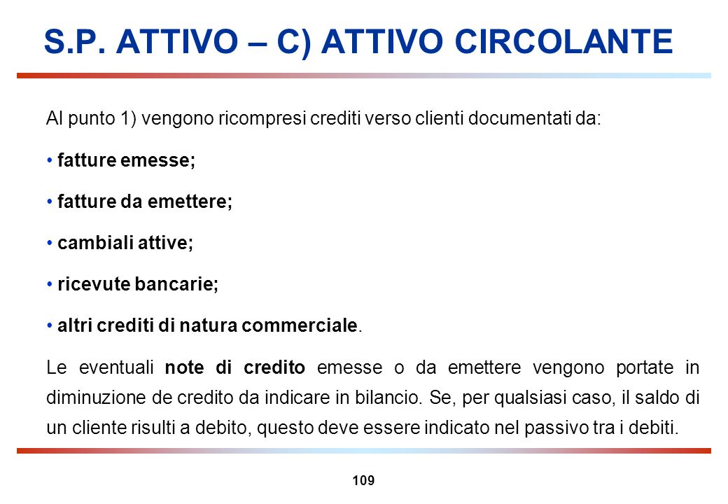 S.P. ATTIVO – C) ATTIVO CIRCOLANTE