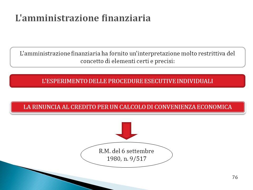 L amministrazione finanziaria