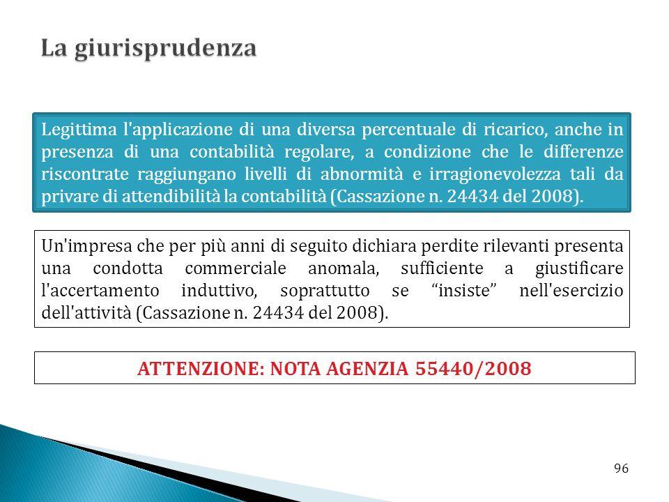 ATTENZIONE: NOTA AGENZIA 55440/2008