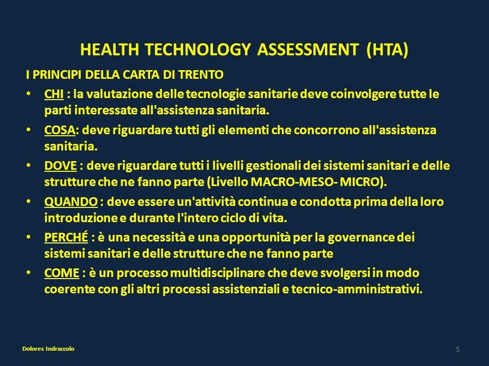 HEALTH TECHNOLOGY ASSESSMENT (HTA)