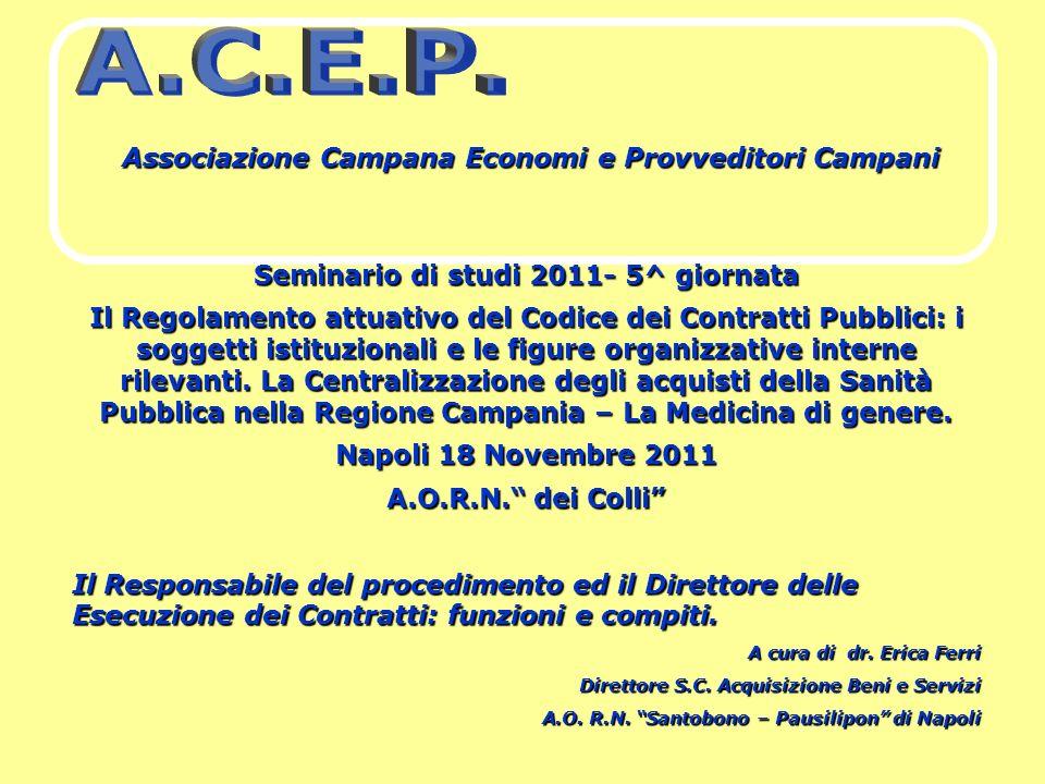 A.C.E.P. Associazione Campana Economi e Provveditori Campani