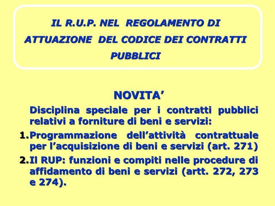 IL R.U.P. NEL REGOLAMENTO DI ATTUAZIONE DEL CODICE DEI CONTRATTI PUBBLICI