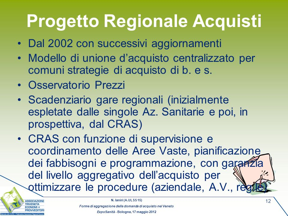 Progetto Regionale Acquisti