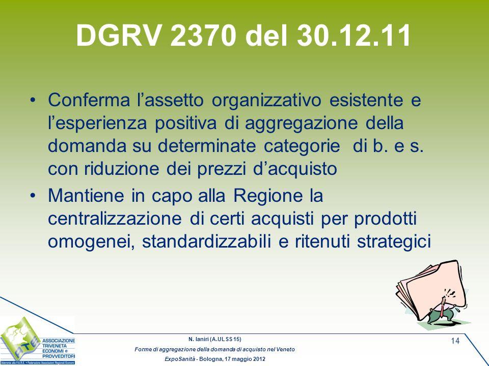 DGRV 2370 del 30.12.11