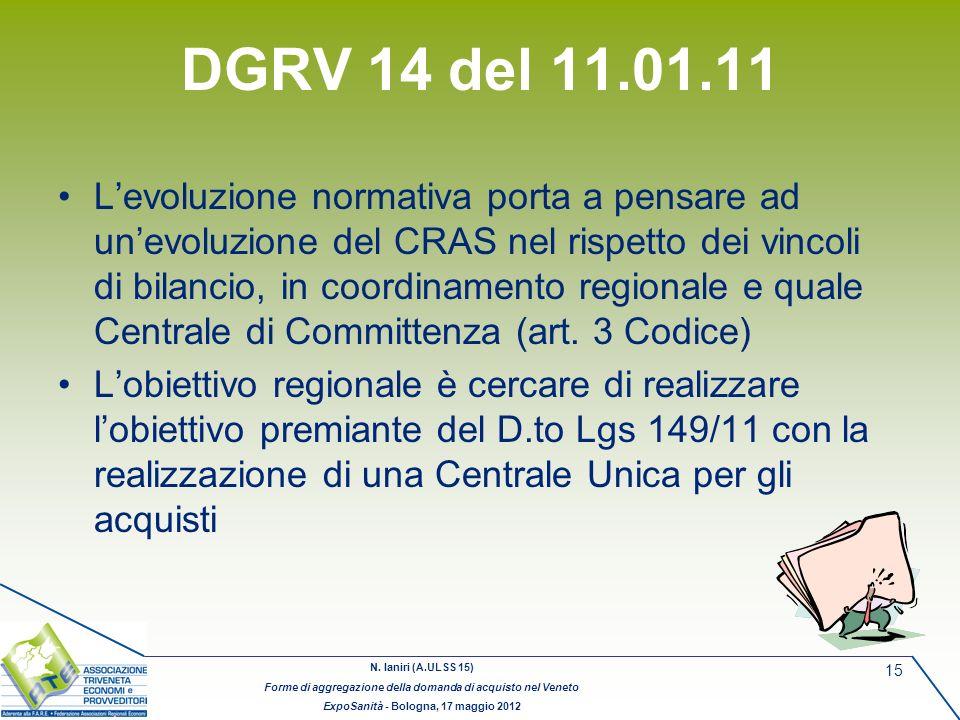 DGRV 14 del 11.01.11