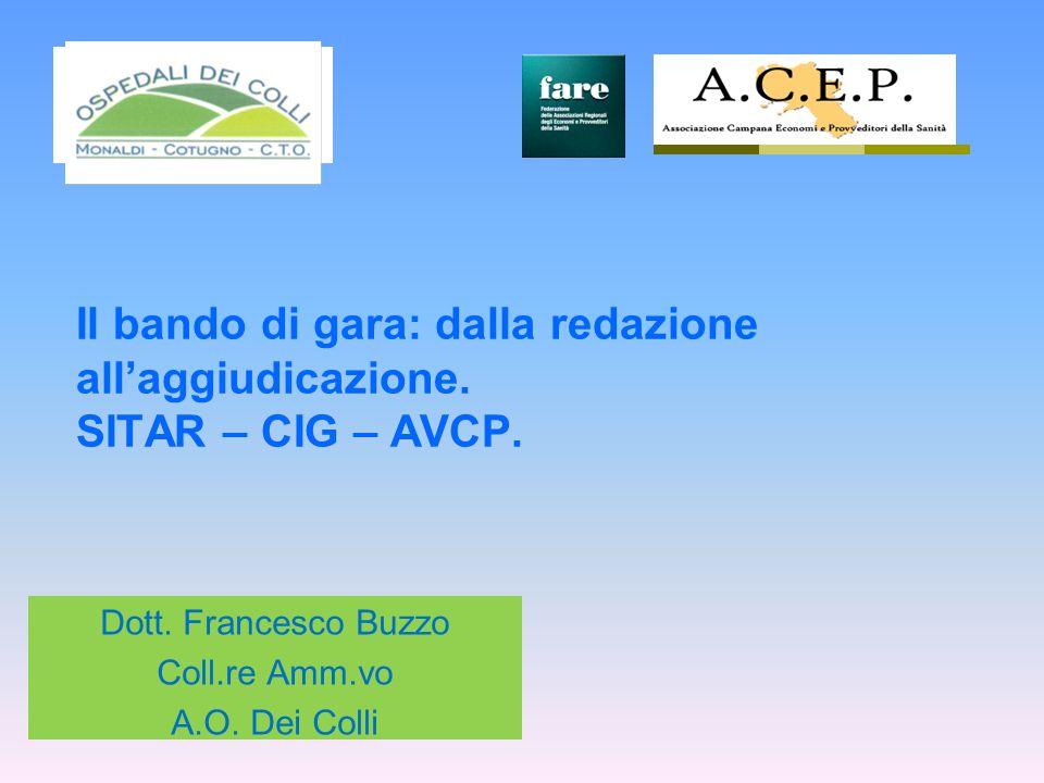 Dott. Francesco Buzzo Coll.re Amm.vo A.O. Dei Colli