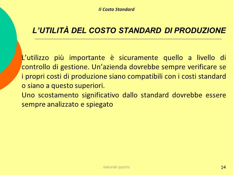 L'UTILITÀ DEL COSTO STANDARD DI PRODUZIONE