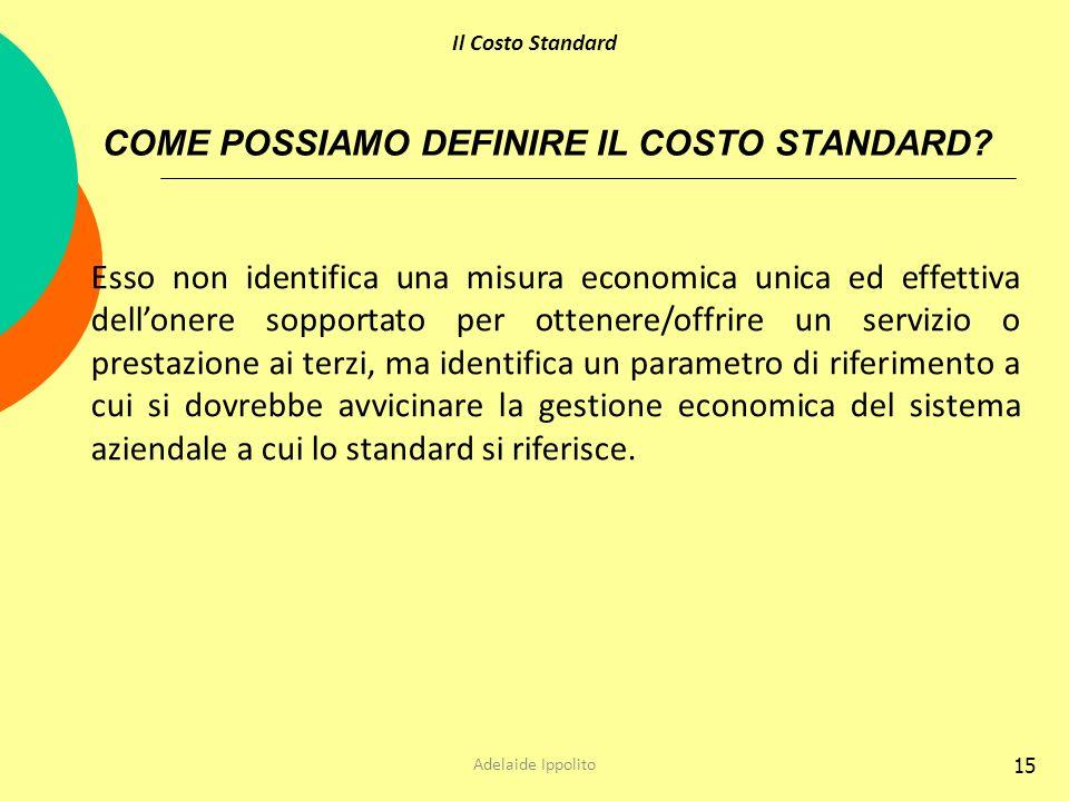 COME POSSIAMO DEFINIRE IL COSTO STANDARD