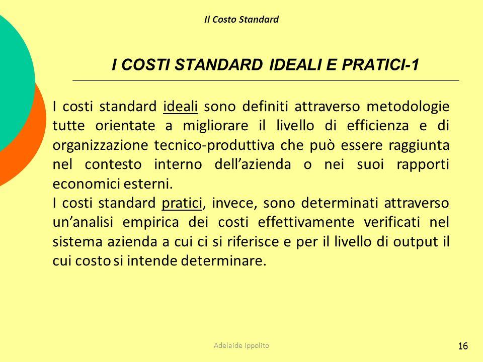 I COSTI STANDARD IDEALI E PRATICI-1