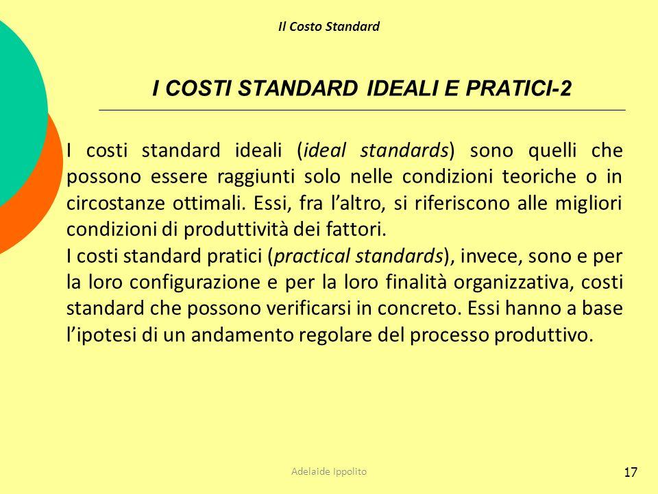 I COSTI STANDARD IDEALI E PRATICI-2