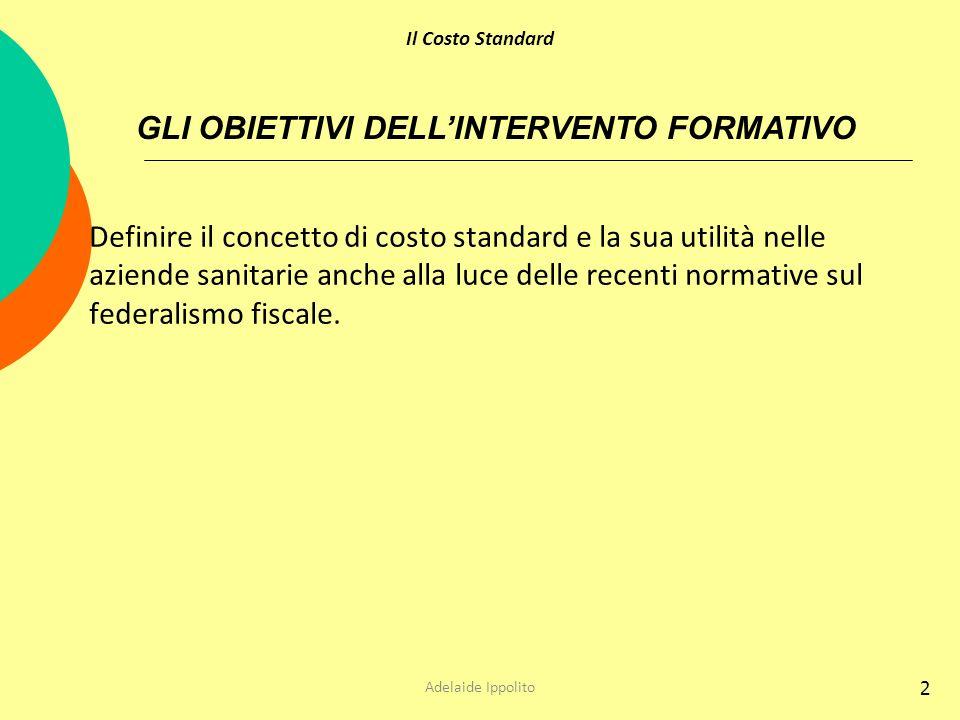 GLI OBIETTIVI DELL'INTERVENTO FORMATIVO