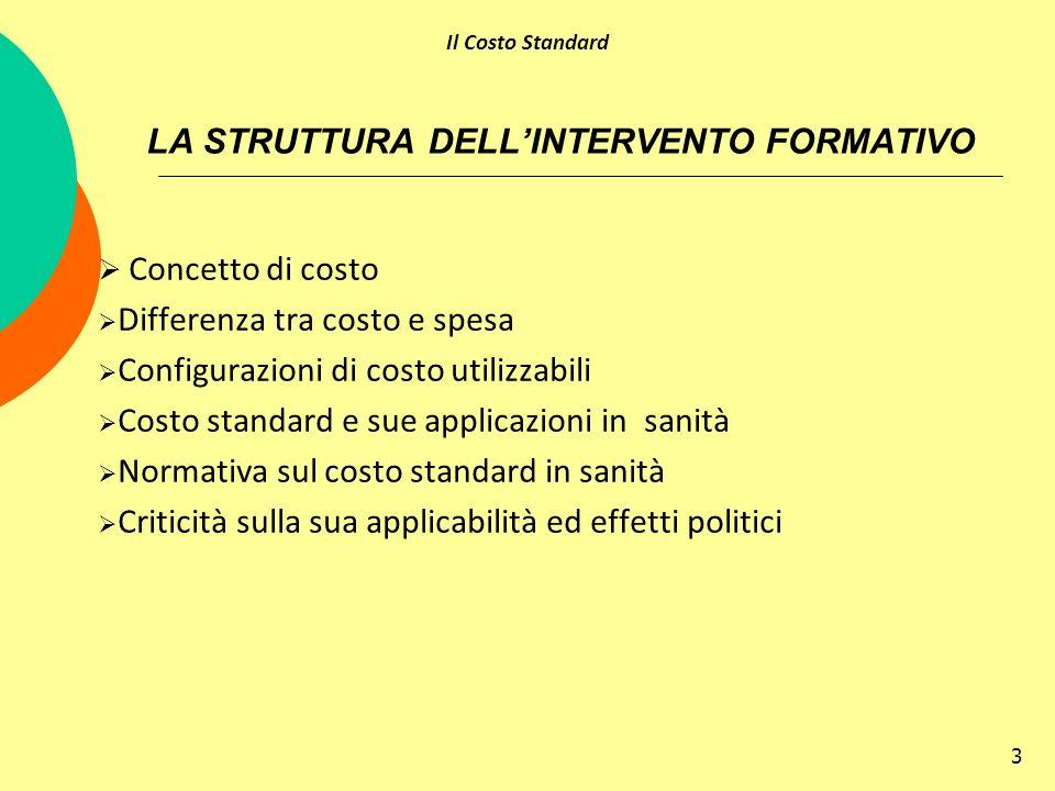 LA STRUTTURA DELL'INTERVENTO FORMATIVO