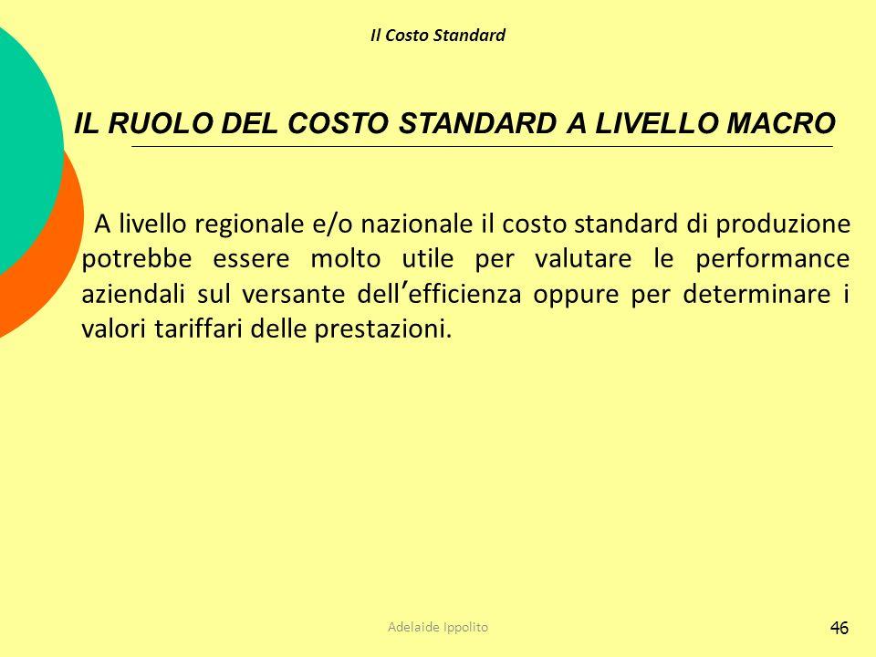 IL RUOLO DEL COSTO STANDARD A LIVELLO MACRO