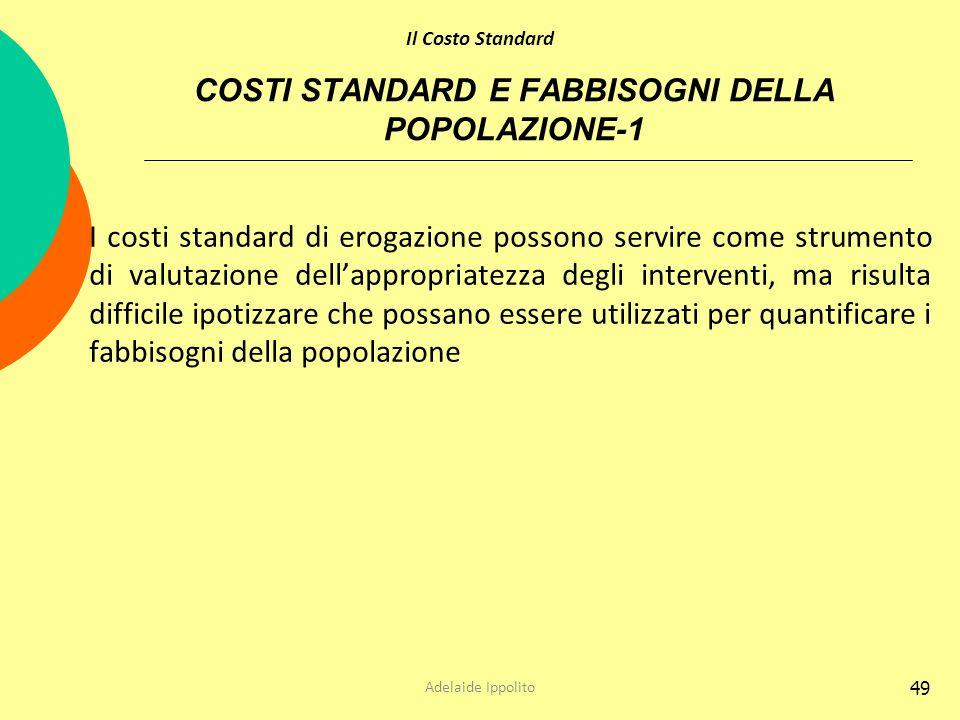 COSTI STANDARD E FABBISOGNI DELLA POPOLAZIONE-1