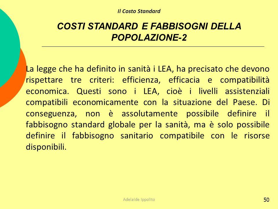COSTI STANDARD E FABBISOGNI DELLA POPOLAZIONE-2