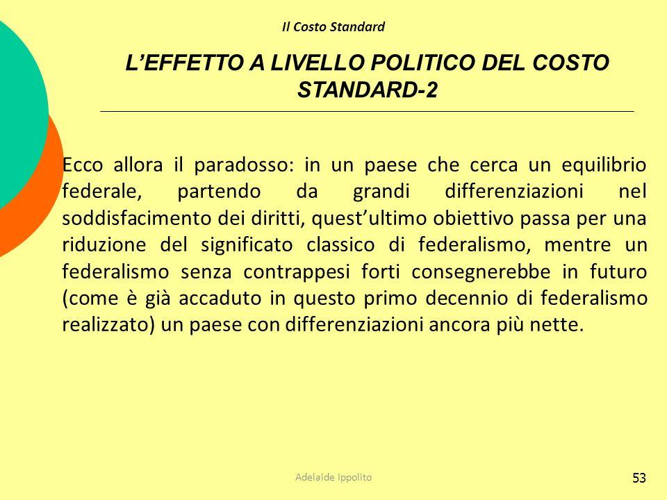 L'EFFETTO A LIVELLO POLITICO DEL COSTO STANDARD-2