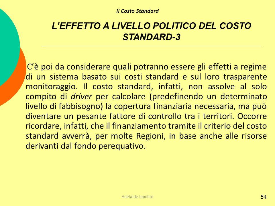 L'EFFETTO A LIVELLO POLITICO DEL COSTO STANDARD-3