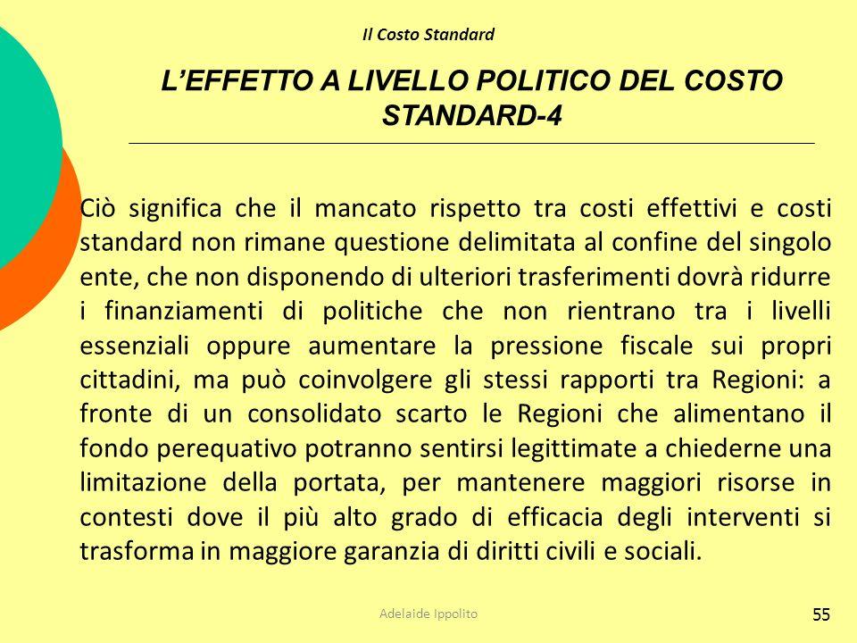 L'EFFETTO A LIVELLO POLITICO DEL COSTO STANDARD-4