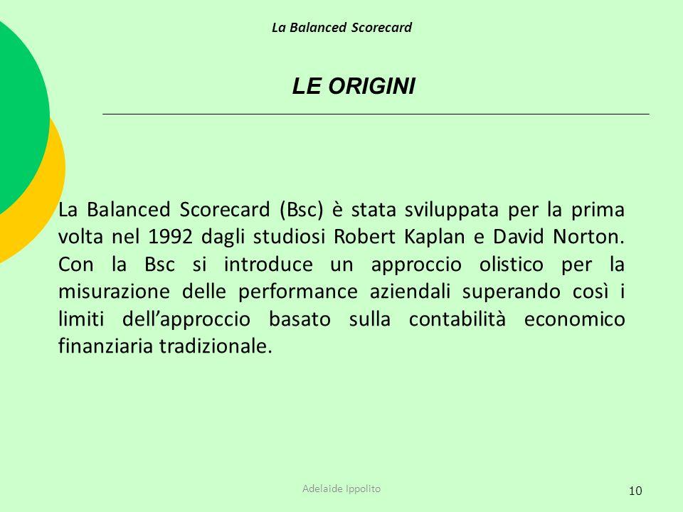 La Balanced Scorecard LE ORIGINI.