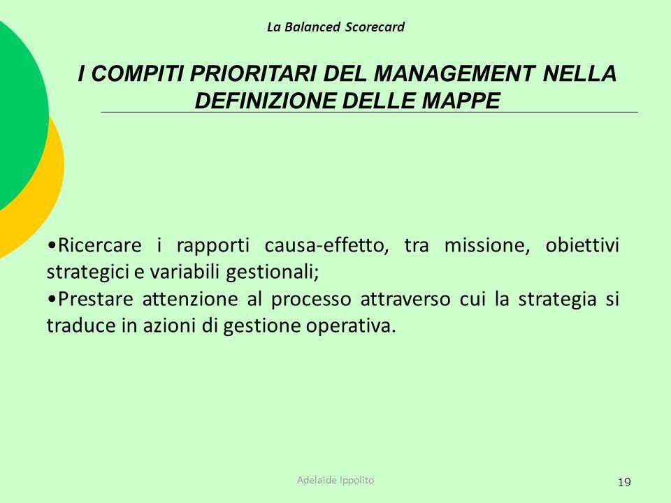 I COMPITI PRIORITARI DEL MANAGEMENT NELLA DEFINIZIONE DELLE MAPPE