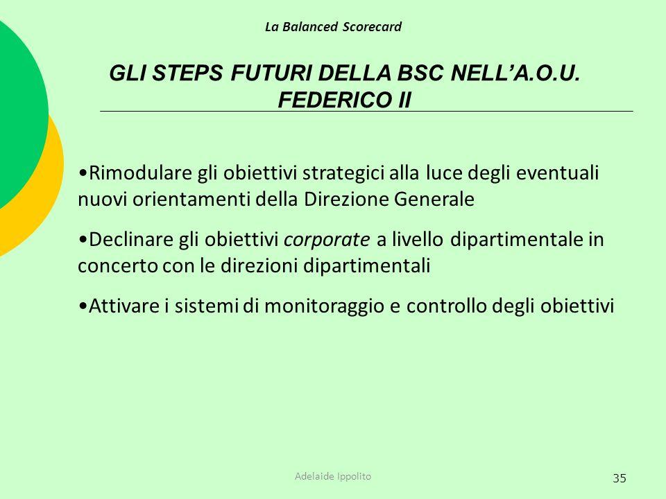 GLI STEPS FUTURI DELLA BSC NELL'A.O.U. FEDERICO II