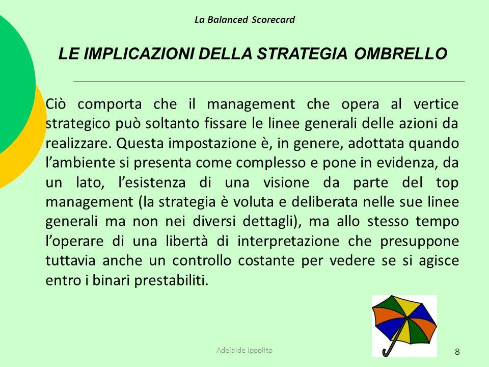 LE IMPLICAZIONI DELLA STRATEGIA OMBRELLO
