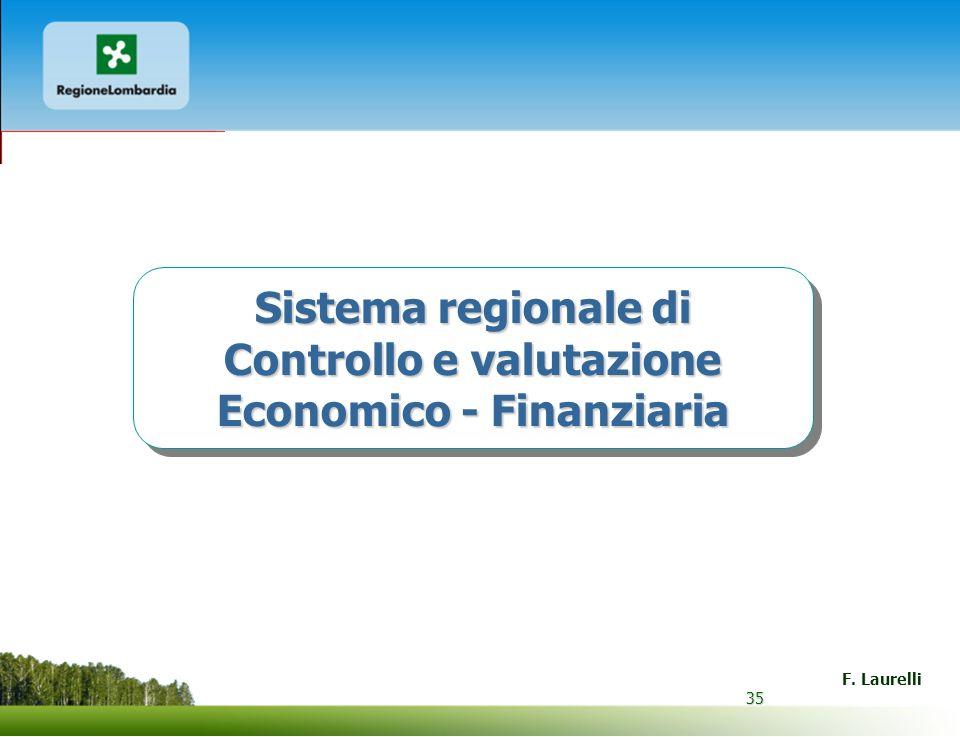 Sistema regionale di Controllo e valutazione Economico - Finanziaria