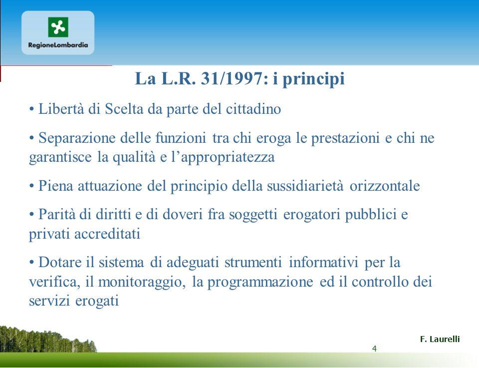 La L.R. 31/1997: i principi Libertà di Scelta da parte del cittadino