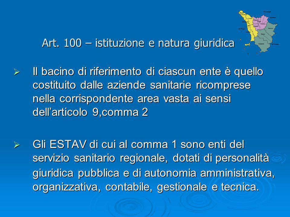 Art. 100 – istituzione e natura giuridica