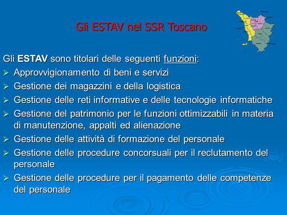 Gli ESTAV nel SSR Toscano