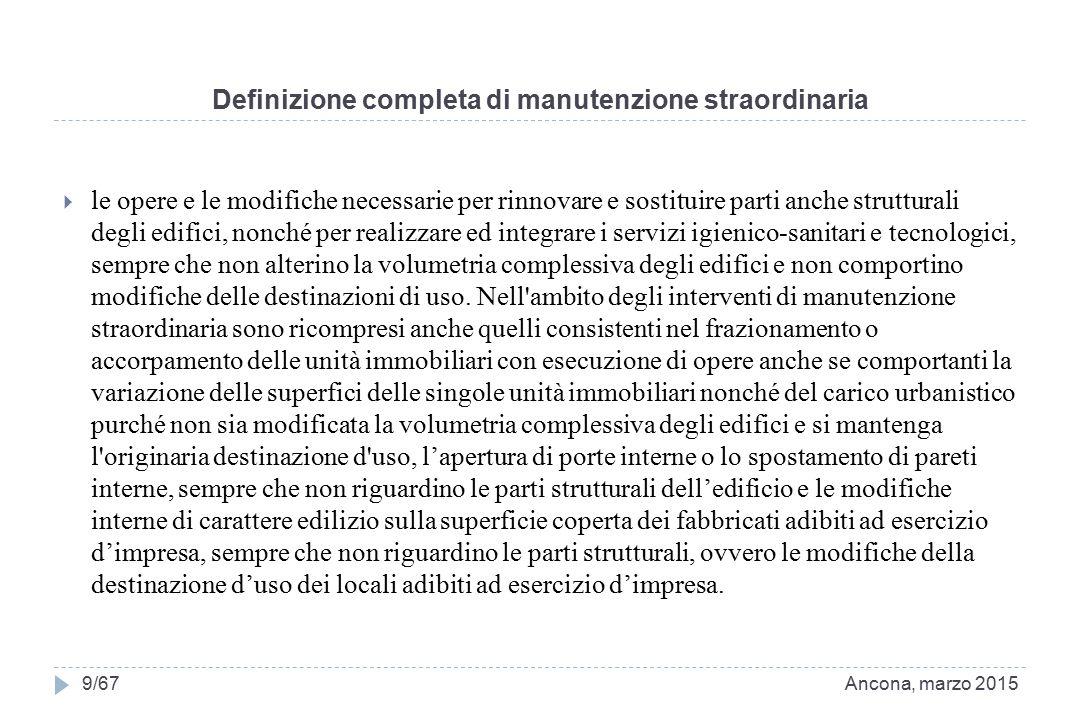 Definizione completa di manutenzione straordinaria