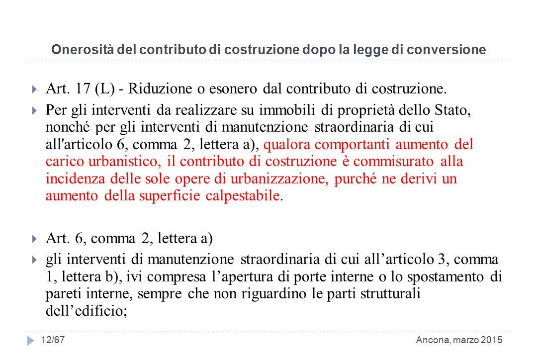 Onerosità del contributo di costruzione dopo la legge di conversione