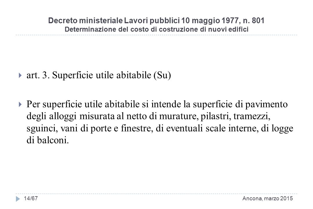 art. 3. Superficie utile abitabile (Su)