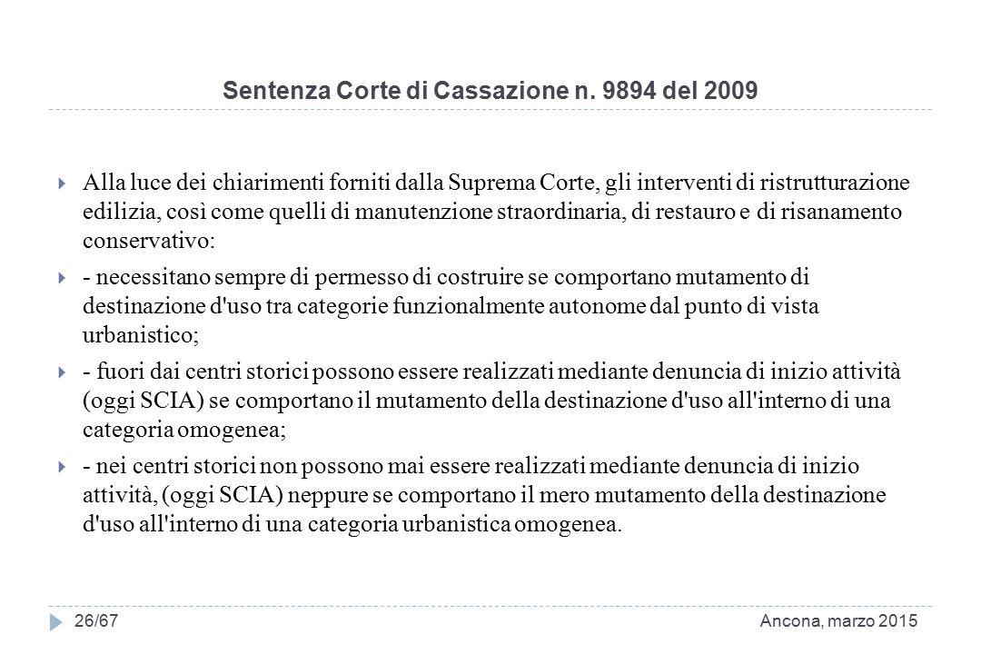 Sentenza Corte di Cassazione n. 9894 del 2009