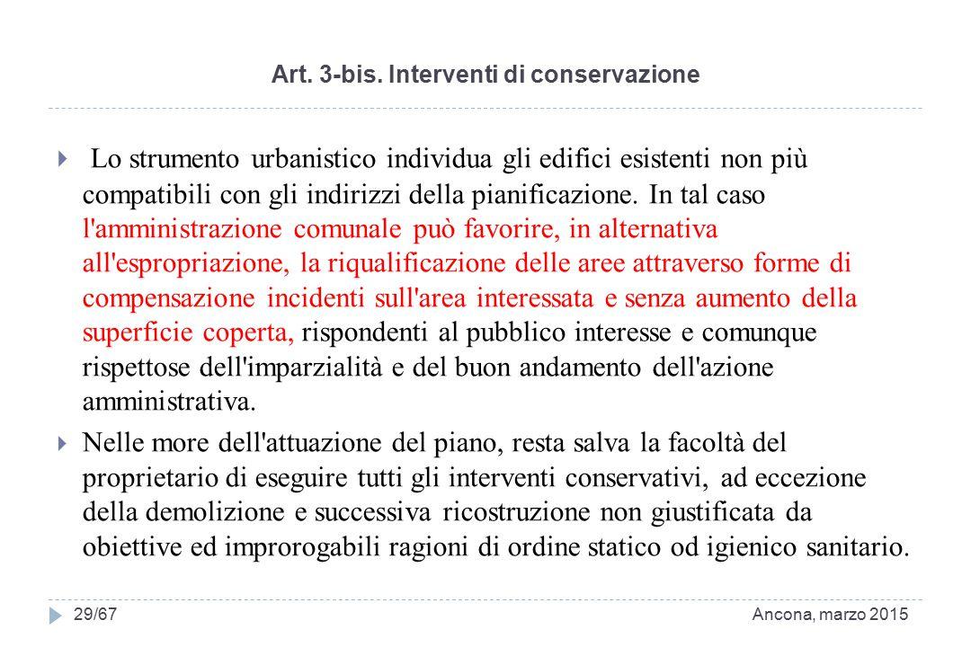 Art. 3-bis. Interventi di conservazione