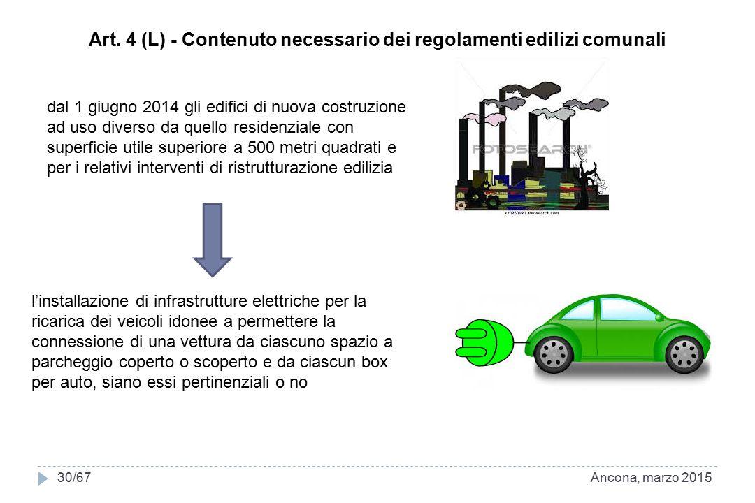 Art. 4 (L) - Contenuto necessario dei regolamenti edilizi comunali