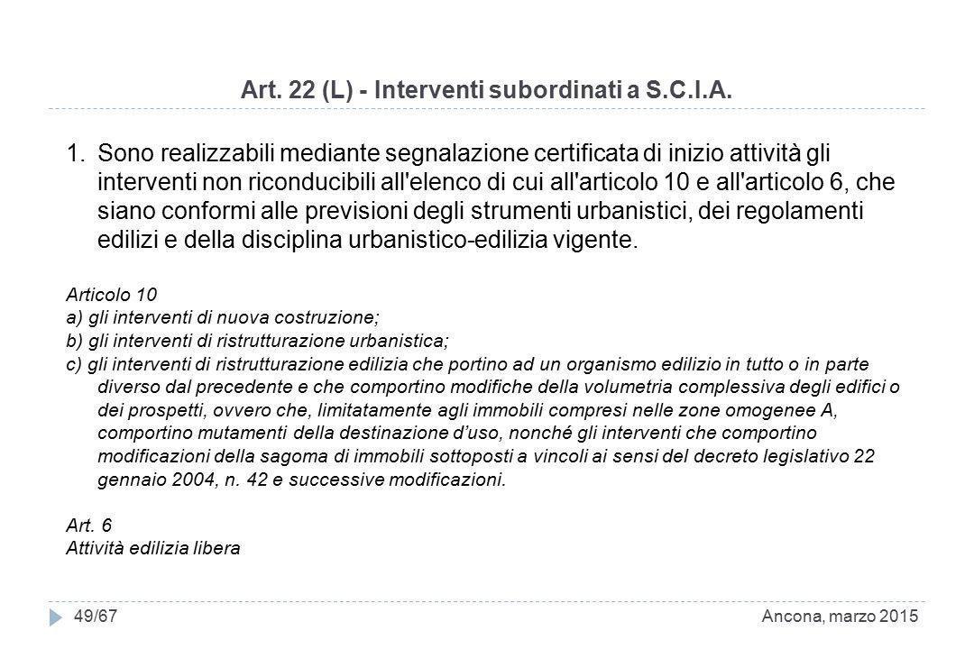Art. 22 (L) - Interventi subordinati a S.C.I.A.
