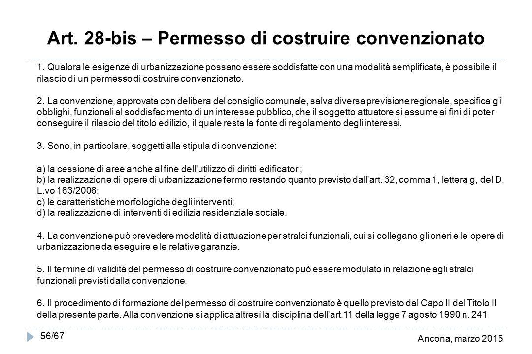 Art. 28-bis – Permesso di costruire convenzionato