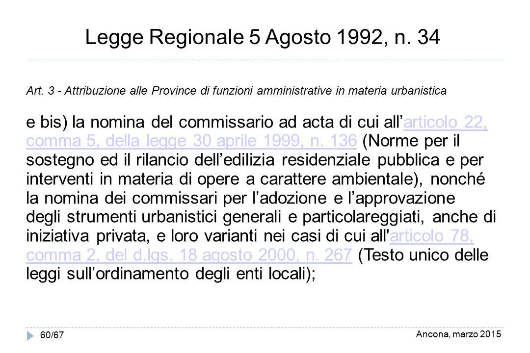Legge Regionale 5 Agosto 1992, n. 34