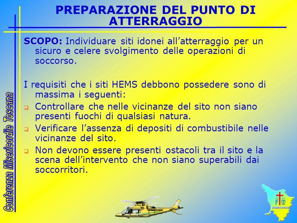 PREPARAZIONE DEL PUNTO DI ATTERRAGGIO