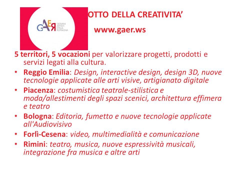 IL PRODOTTO DELLA CREATIVITA' www.gaer.ws