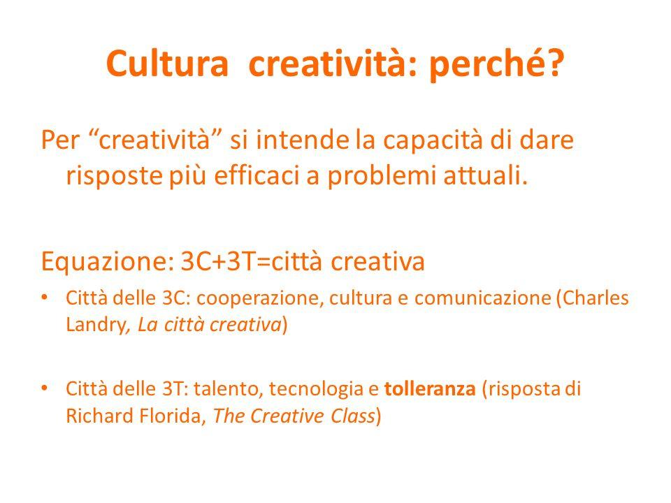 Cultura creatività: perché