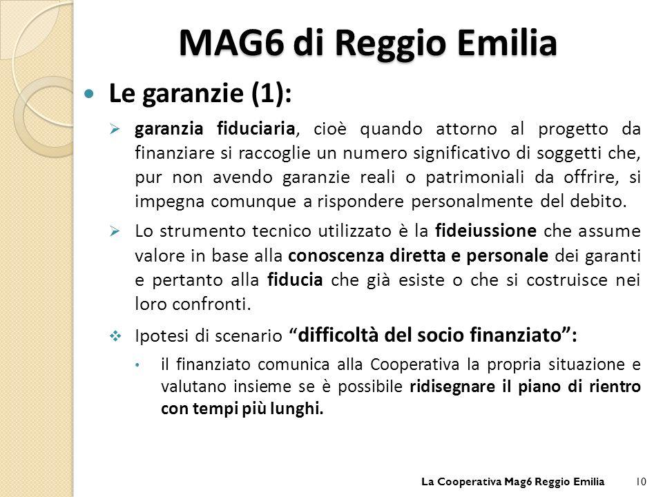 MAG6 di Reggio Emilia Le garanzie (1):
