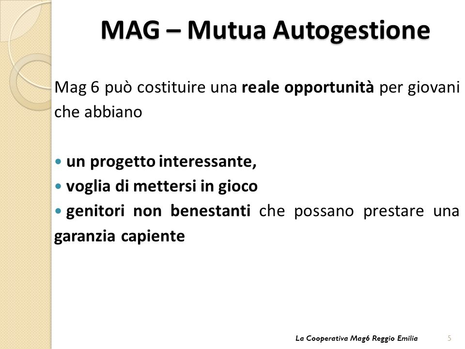 MAG – Mutua Autogestione