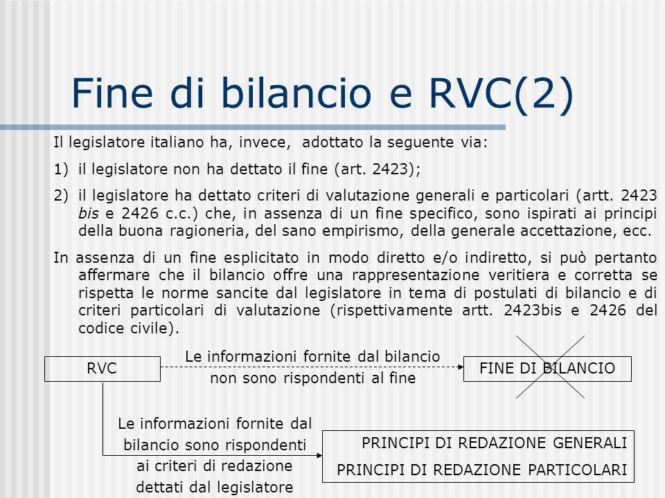 Fine di bilancio e RVC(2)